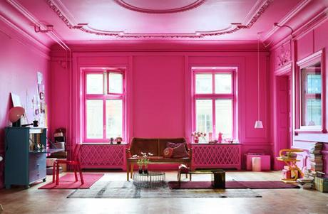 Hot pink room