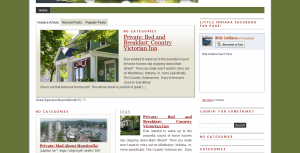 little Indiana Homepage August 2009...Before There Were Fans