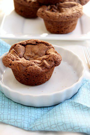 Food: Reese's Peanut Butter Cup Brownie Muffins.