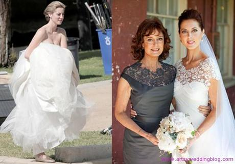 Eva Amurri looks stunning in Lela Rose wedding dress