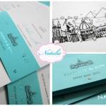 wedding invitation Two by Two Weddings