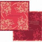 Art Nouveau Floral Cranberry