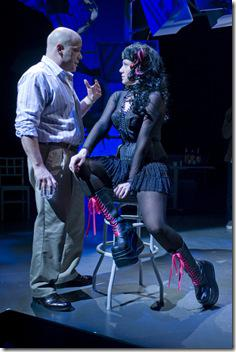 Steve Pickering (Steve) and Justine Turner (Cleo) in Ask Aunt Susan by Seth Bockley, directed by Joanie Schultz.