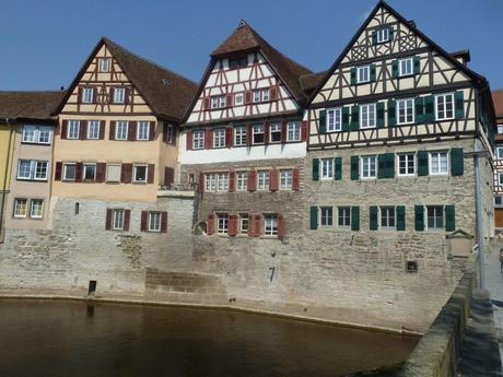 schwaebisch hall castle wall houses