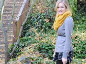 Gingerbread Lattes Yellow Scarf
