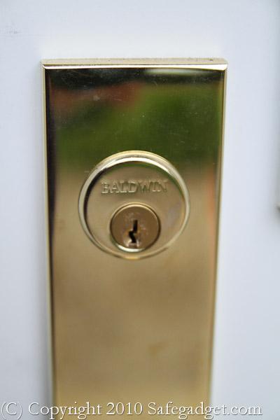 Gold Baldwin Door Lock