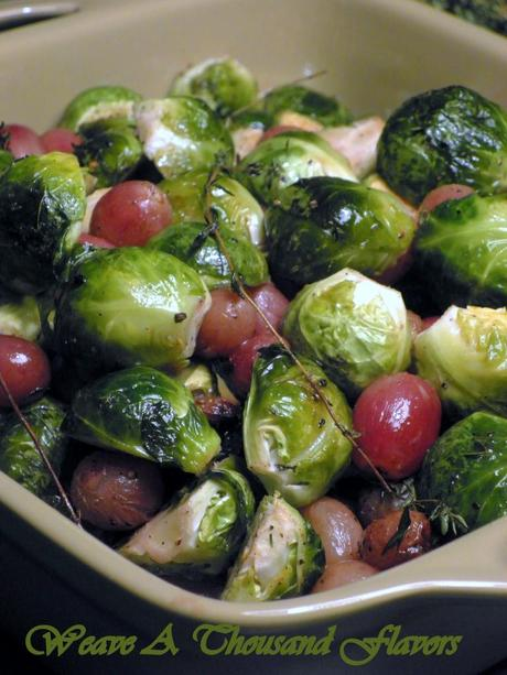 Roasted brusselsprouts & grapes - 3
