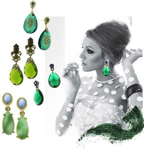 Emerald EarringsFab Find Friday: Tory Burch at the CFDA