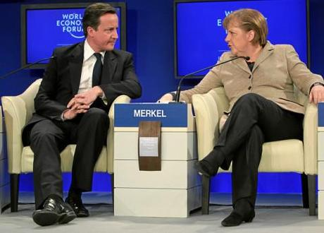 Europe's future: Cameron and Merkel meet as the pain in Spain triggers market woe