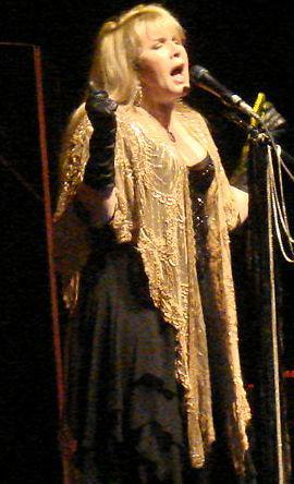 Stevie Nicks photographed performing on 2-1-08...
