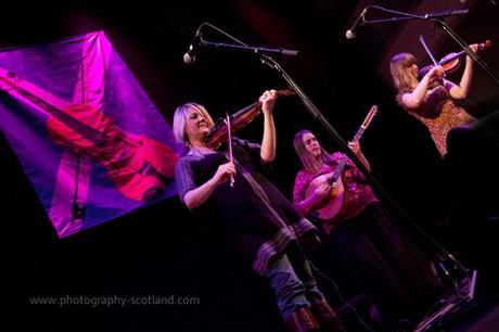 Photo - Vamm playing their first gig at the Scots Fiddle Festival in Edinburgh, Scotland
