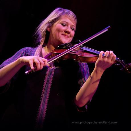 Photo - Catriona Macdonald, fiddler with the band Vamm, playing at the Scots Fiddle Festival in Edinburgh, Scotland