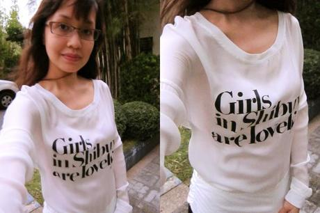 "Black HUMAN ""Girls in Shibuya"" Pullover Top – My First OOTD, be nice…"