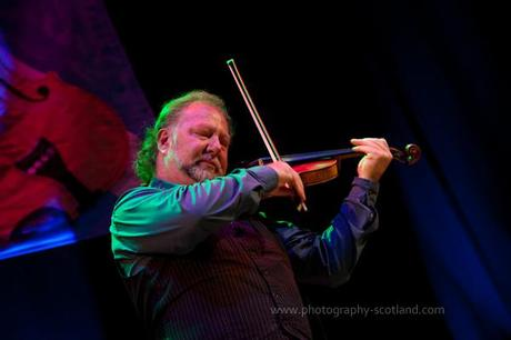 Photo - Alasdair Fraser playing at the Scots Fiddle Festival in Edinburgh, Scotland