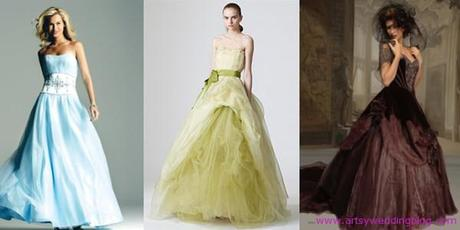The Rising Popularity of Colored Bridal Gowns