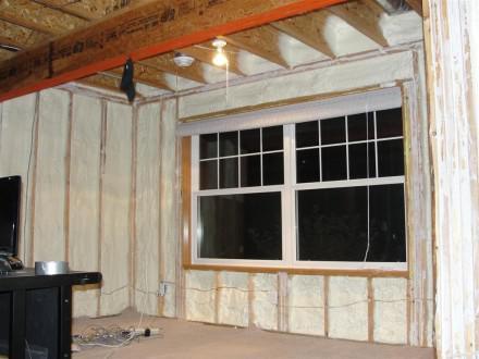 Foamed walls