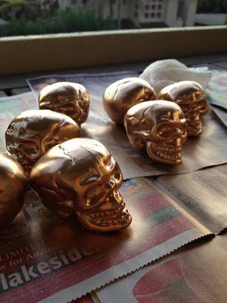 Gold Skull DIY
