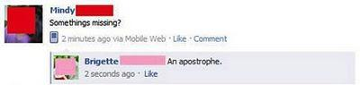 Funny Facebook status messages (spelling FAIL). This is funny stuff.