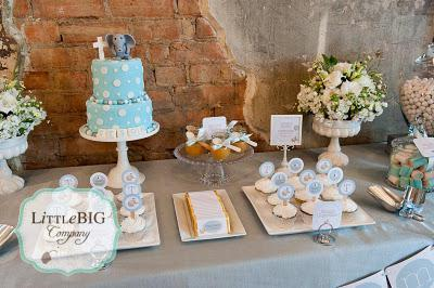 Our Work: Elegant Elephant Themed Combined Baptism and 1st Birthday