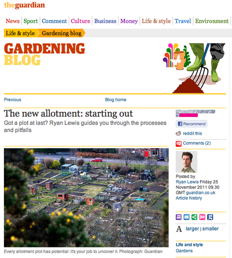 My Guardian blog: The new allotment