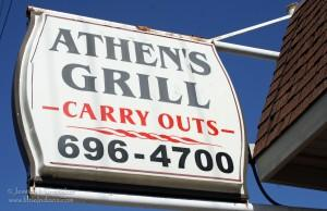 Athens Grill in Lowell, Indiana A Sign of Good Food to Come