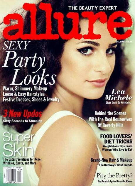 Hair and Makeup with Lea Michele – Allure Dec.2011 Cover, Behind the Scenes