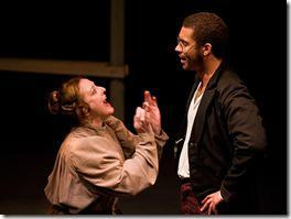"Devorah Richards and Bryson Engelen in Polarity Ensemble Theatre's ""Peer Gynt"". Photo by John W. Sisson, Jr."