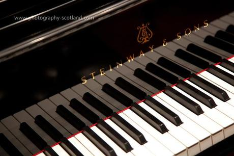 Photo - keyboard of a Steinway piano. photo taken in the Usher Hall, Edinburgh, Scotland