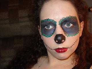 First Draft of my Sugar Skull look