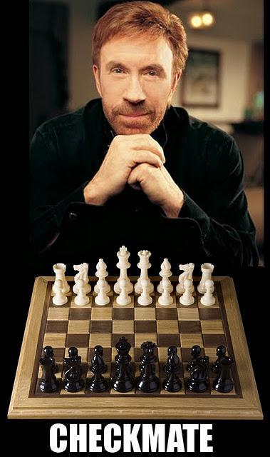 This is what happens when you play chess against Chuck Norris