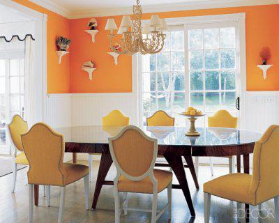 Popular Living Room Paint Colors on The Tangerine Dining Room Decorator Steven Gambrel Put Together For