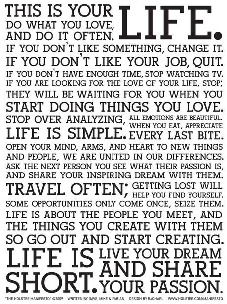 THIS IS YOUR LIFE ~ DO WHAT YOU LOVE