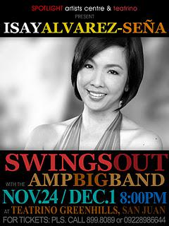 Isay Alvarez goes jazz at Teatrino in Greenhills, Dec. 1