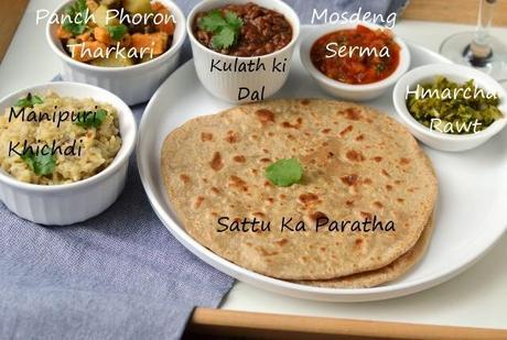 A Vegetarian Indian Thali