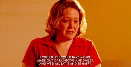 """""""I wish that I could bake a cake made out of rainbows and smiles"""""""