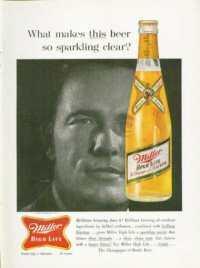 A 1961 ad for Miller High Life, Bond's favorite beer.