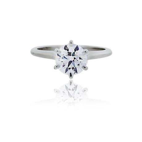 Classic Round Solitaire engagment ring