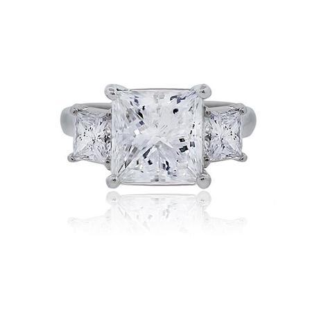 Huge Princess cut engagement ring