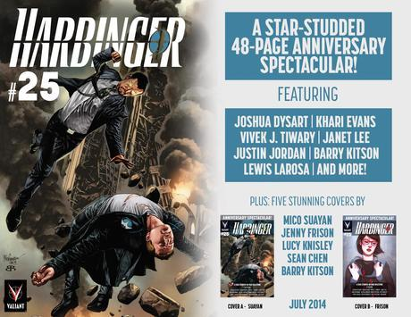 First Look: July's Massive HARBINGER #25 Anniversary Spectacular
