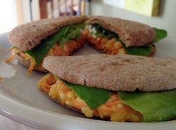 Carrot cheese sandwich
