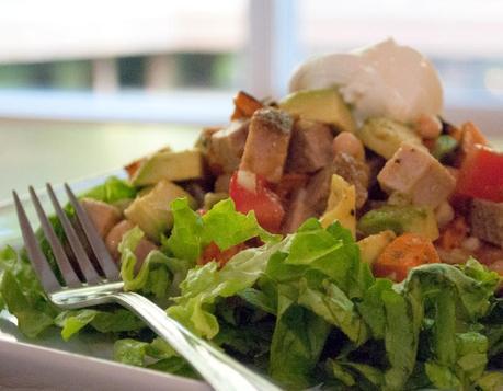 Chopped Salad with Pork