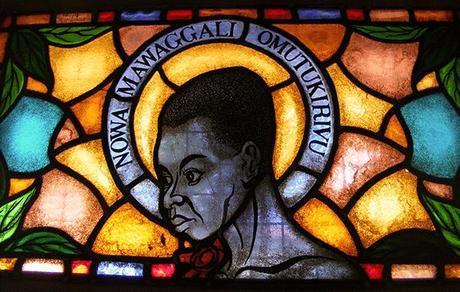 Namugongo stained glass window