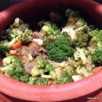 Scallops in broccoli