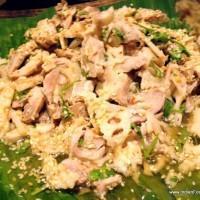 Chicken and lotus stem salad