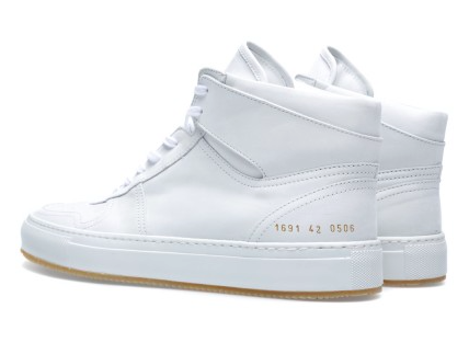 Great Heights In White:  Common Projects B-Ball High Sneaker