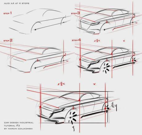 Car sketch tutorial by Marcin