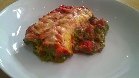 Spinach, feta & beetroot cannelloni