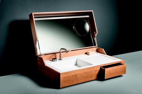 Hidden Bathroom Sink Inside Suitcase