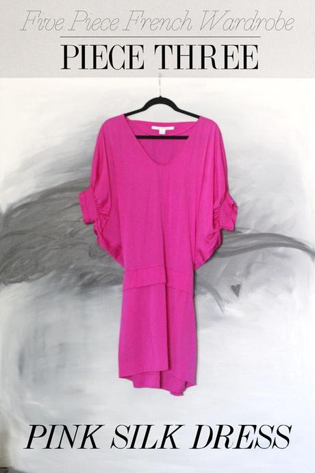 style of sam, five piece french wardrobe, dvf pink silk edna dress