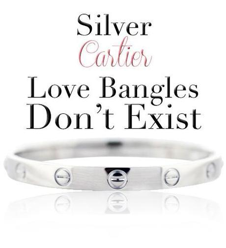 Cartier sterling silver love bangle copy